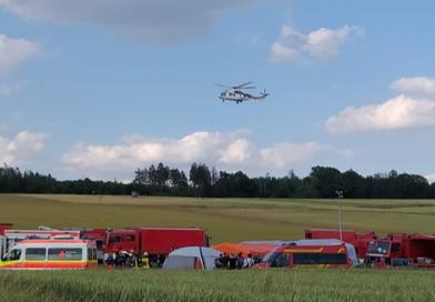 2019-07-01 Dekontaminationseinsatz nach Hubschrauberabsturz